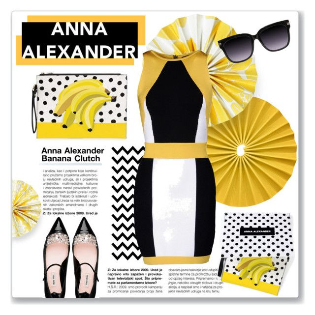 """Anna Alexander Banana Clutch"" by kellylynne68 ❤ liked on Polyvore"