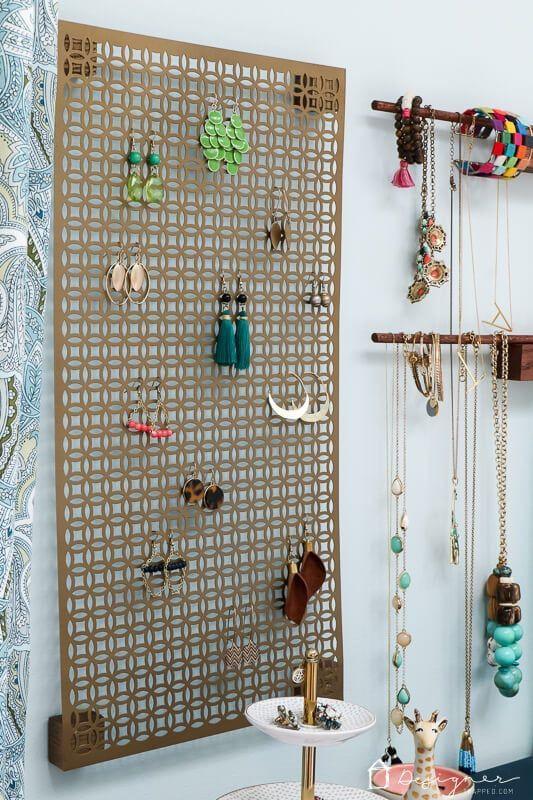 Photo of Einfache DIY Schmuck Organisation für Halsketten, Ohrringe und Armbänder