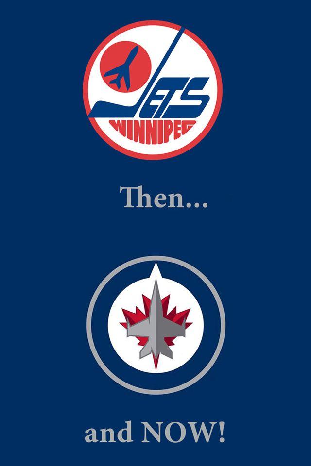 640x960 Winnipeg Jets Old New RCAF Logo Blue IPhone4 Wallpaper