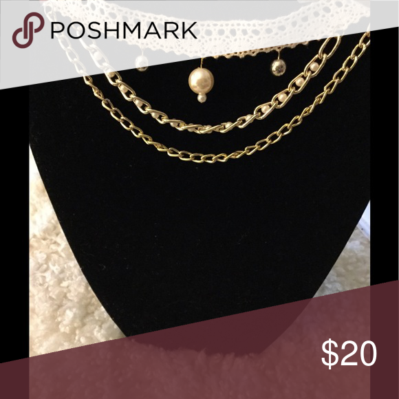 Choker Ivory Choker with Chains Jewelry
