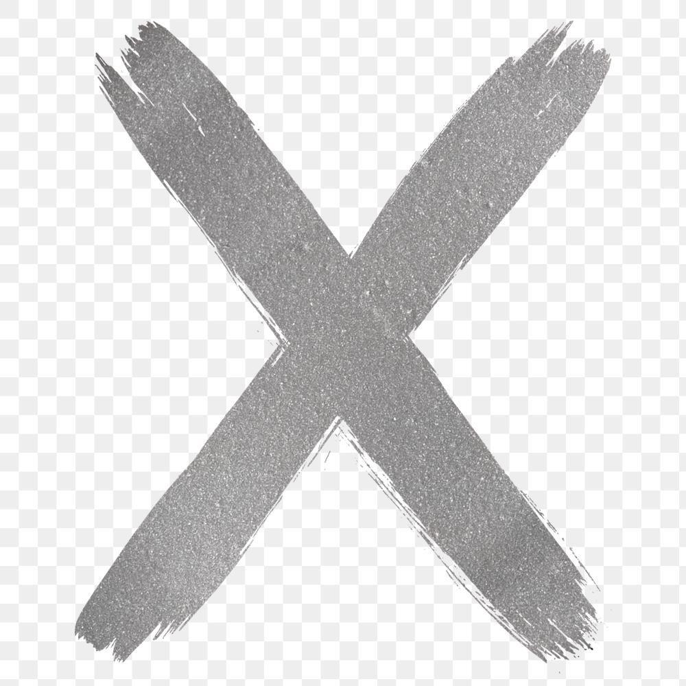 Transparent Letter X Silver Brush Stroke Font Free Image By Rawpixel Com Hein Brush Stroke Font Brush Strokes Free Illustrations