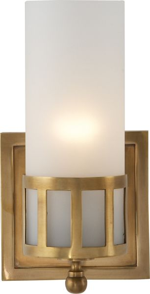 openwork single wall sconce option for master bathroom in this