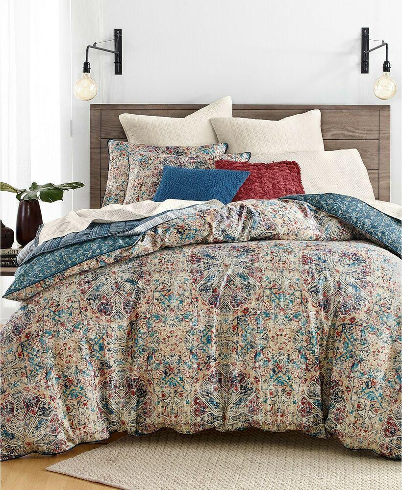 Lucky Brand Home Alma Reversible Multi Cotton King Comforter