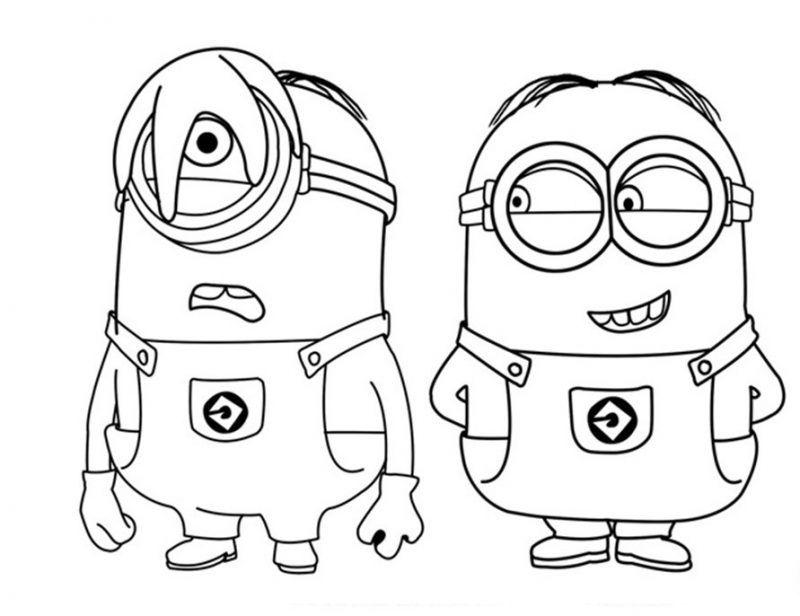 Dibujos Para Colorear De Los Minions