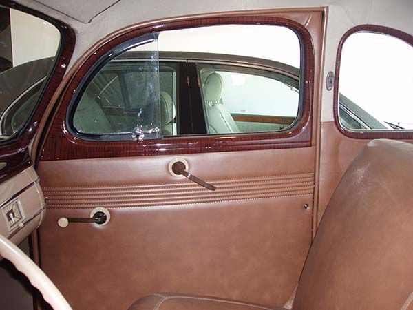 1940 Ford 5 Window Coupe Passenger Side Door Panel Headliner And Windlace After Lebaron Bonney Company Www Lebaronbonney Com 4