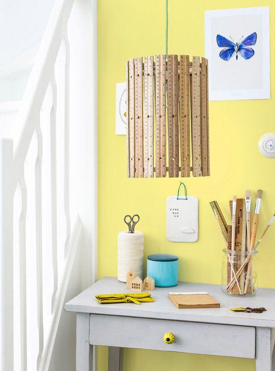 Diy fabrica tu l mpara con reglas de madera decoraci n for Decoracion en madera para el hogar