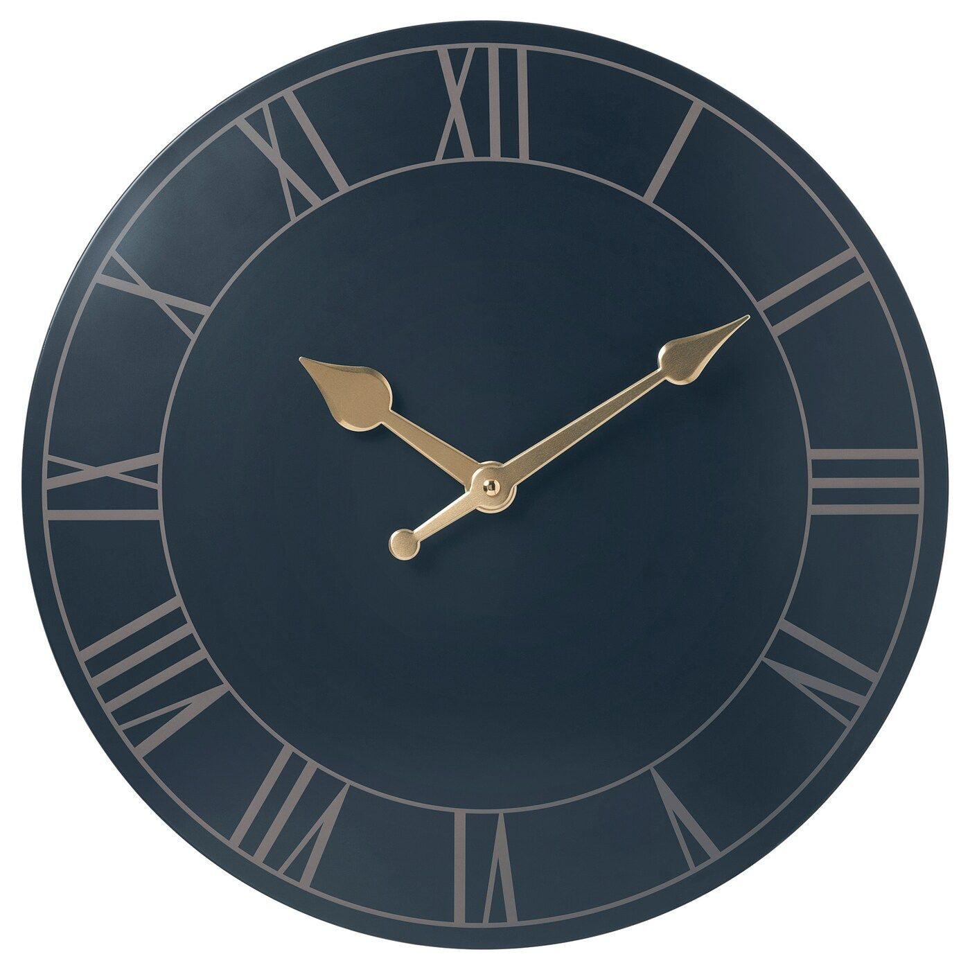 Ikea Pollett Wall Clock Dark Blue No Disturbing Ticking Sounds Since The Clock Has A Silent Quartz Movement Highly Accu In 2020 Blue Wall Clocks Wall Clock Clock