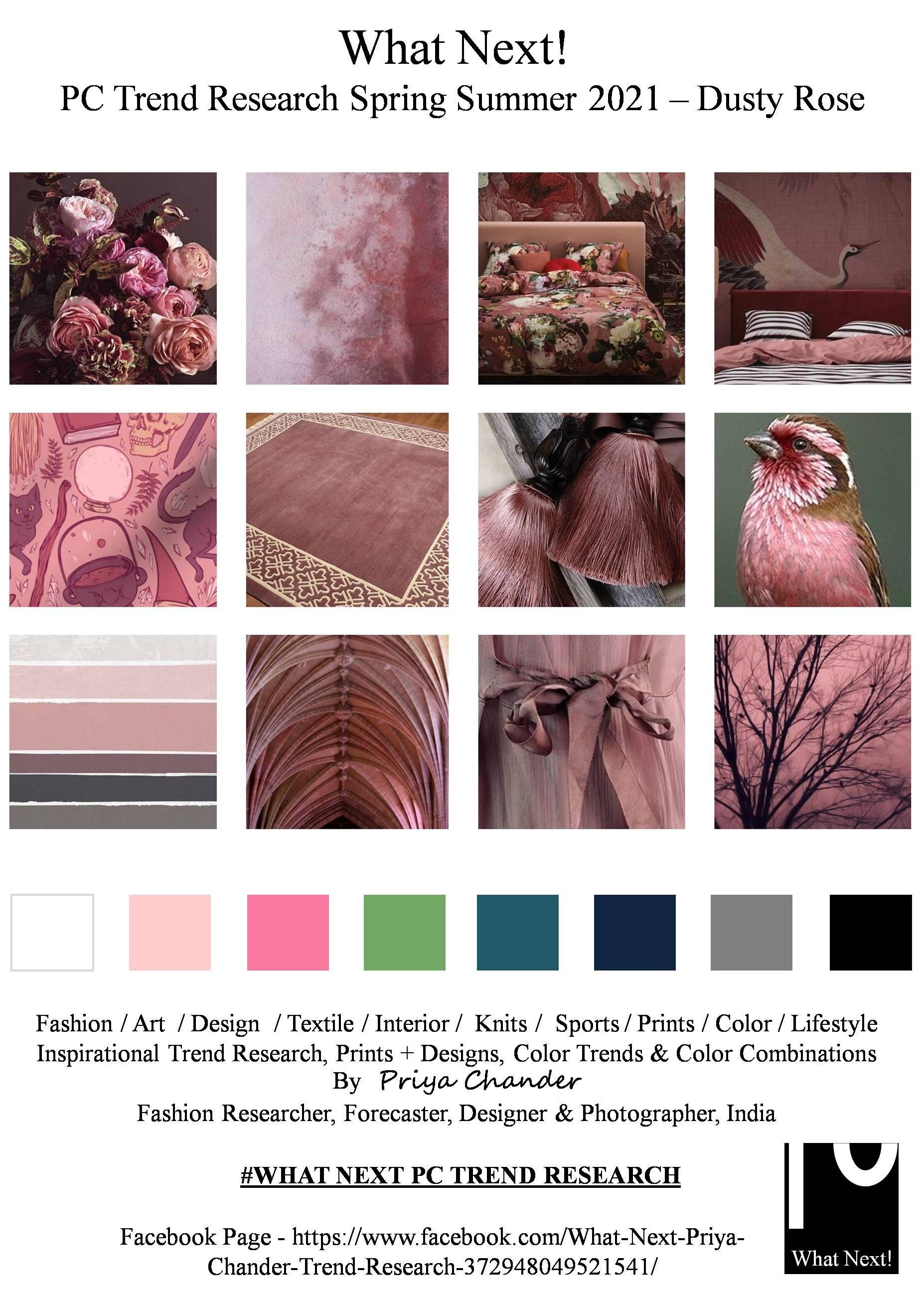 Dustyrose Mauve Dustyrosecolor Ss2021 Whatnextpctrendresearch Priyachanderdesigns Fashionforecastbypriy Color Trends Pantone Trends Color Trends Fashion