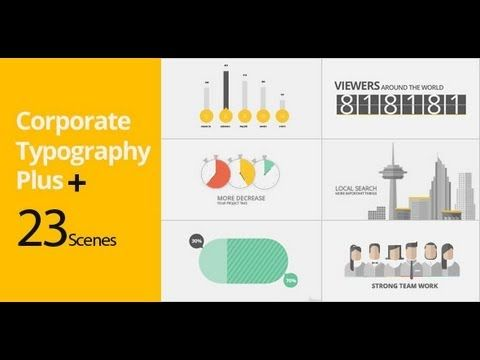 corporate typography plus | videohive templates | after effects, Powerpoint templates