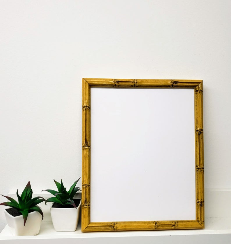 Lucky Bamboo Natural Wood Picture Frame With White Mat 8x10 9x12 11x14 14x16 16x20 Standard And C In 2020 Picture On Wood Wood Picture Frames Bamboo Picture Frames