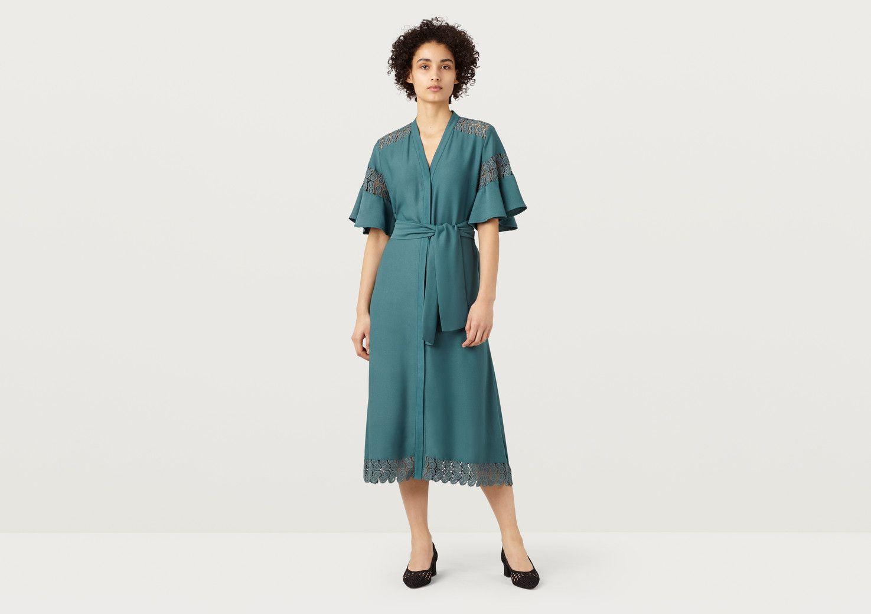 Tidal Sea Green Lace Detail Dress Finery 71Ni6