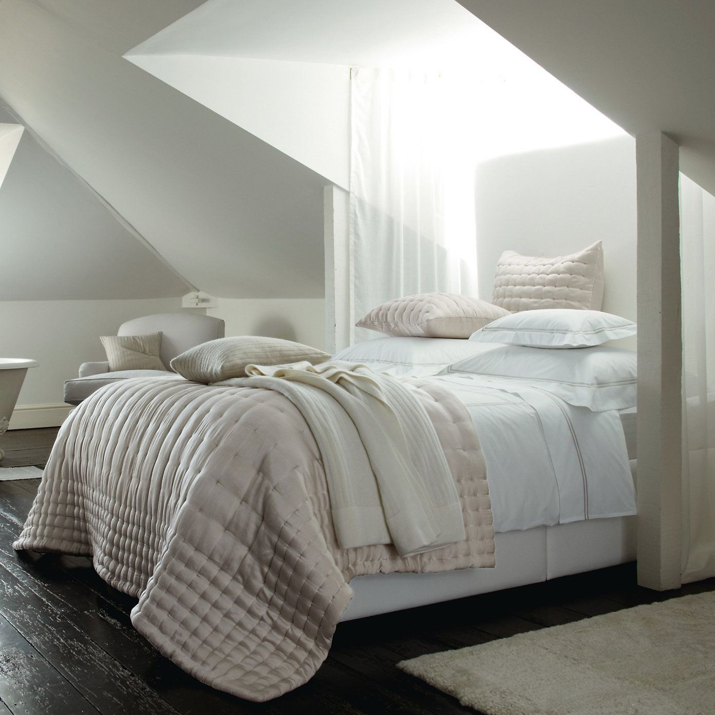 soft blush and white - Cashmere Throw - Bedspreads ...