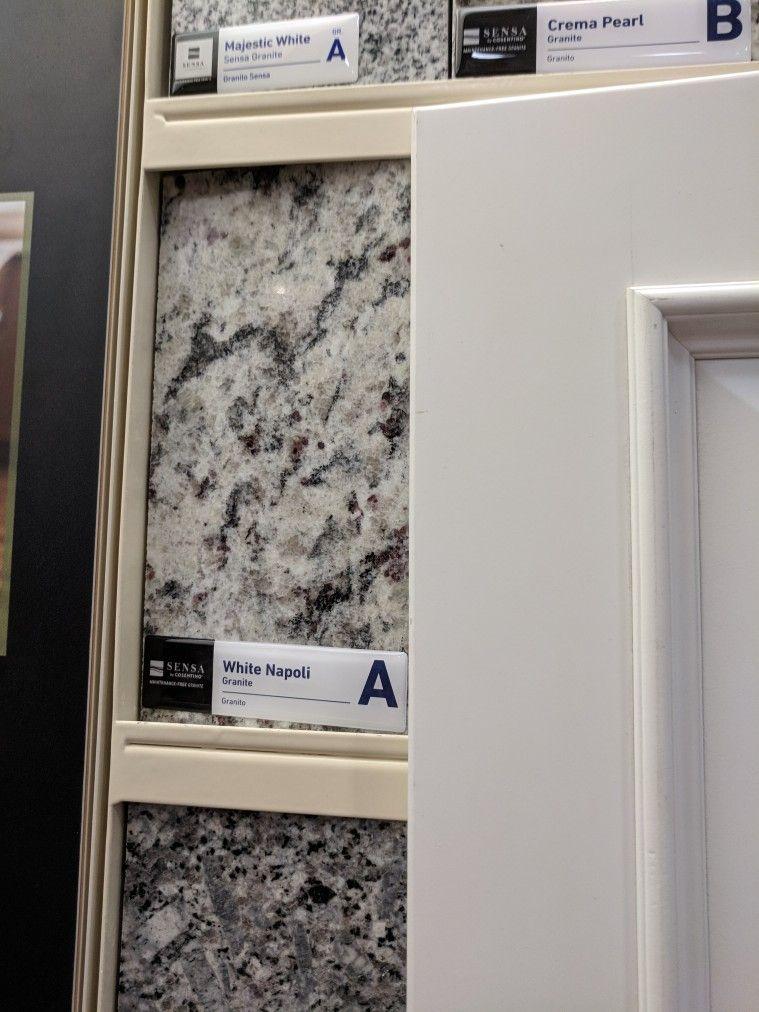 White Napoli Granite Lowe S Granite Kitchen Granite