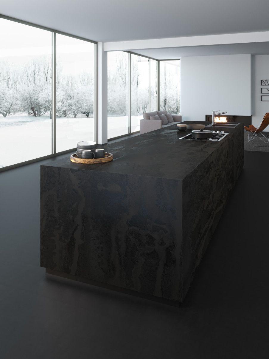 Arbeitsplatten Aus Dekton Material Aufbau Eigenschaften Vor Und Nachteile Preis Modern Koksdesign Kok Svart Moderna Kok