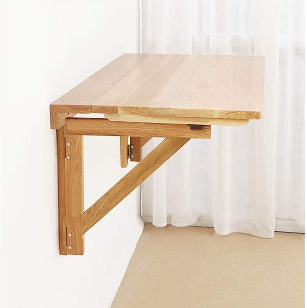 FEI Table pliante en bois massif Table à manger Table d