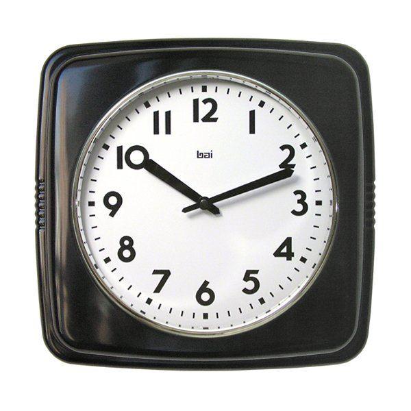 Bai Design 750 Square Retro Wall Clock Decor Universe