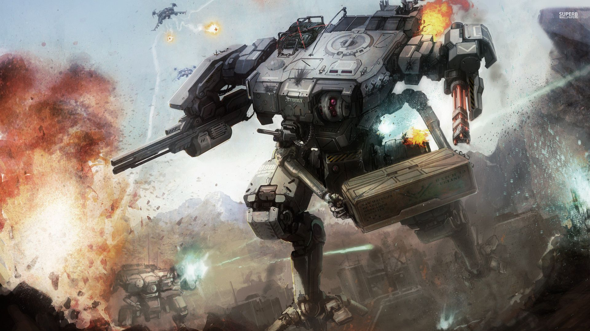 Mechwarrior Battletech Wallpaper Science Fiction Illustration Concept Art Battle Robots