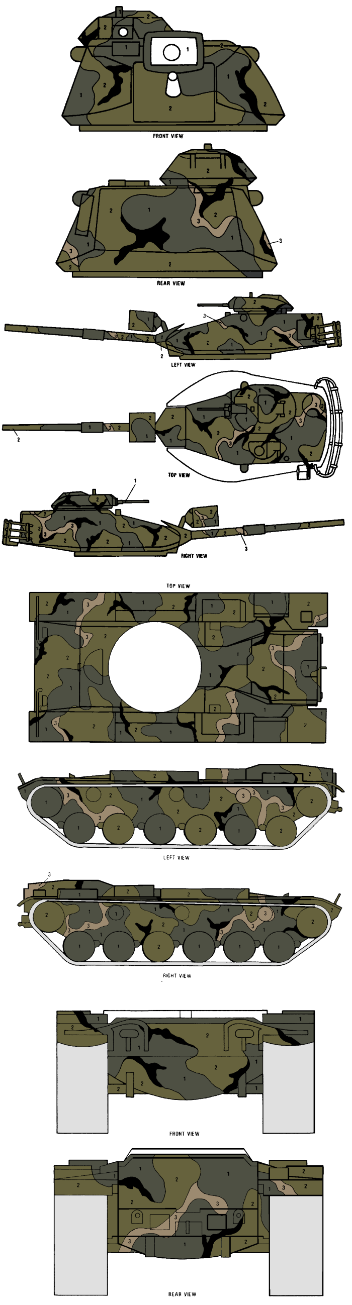 M60a1 M60a3 Merdc Summer Verdant Camouflage Color Profile And Paint Guide Camouflage Colors Color Profile Desert Colors
