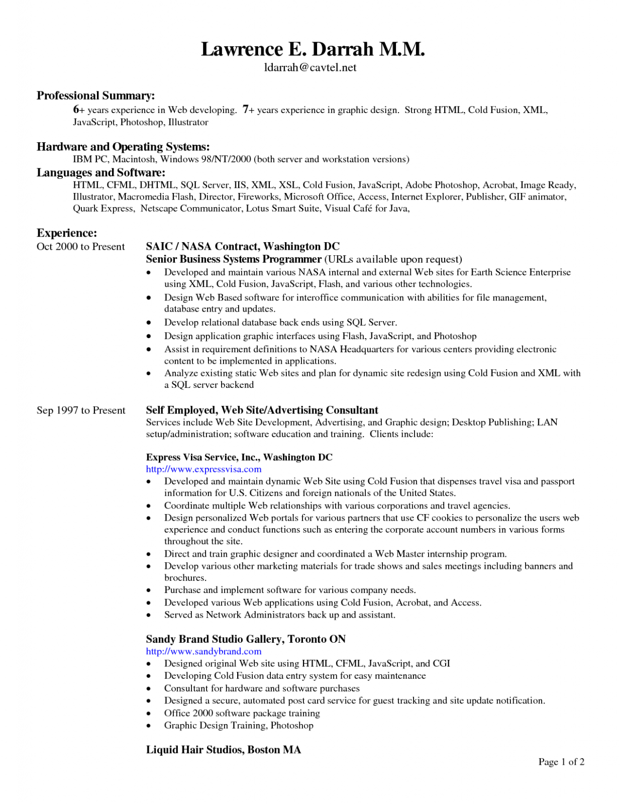 13 Primary Resume Headings