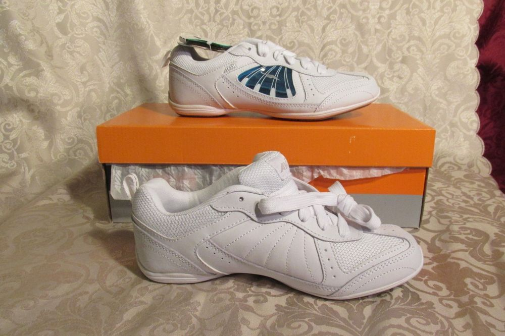 8a070a2c0133 Avia Let s Go Tennis Shoes Size 6.5 White with multi colored inserts New in  Box  Avia  Tennis