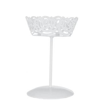 White Floral Metal Single Cupcake Holder Cupcake Holder Frame Decor Cupcake Display