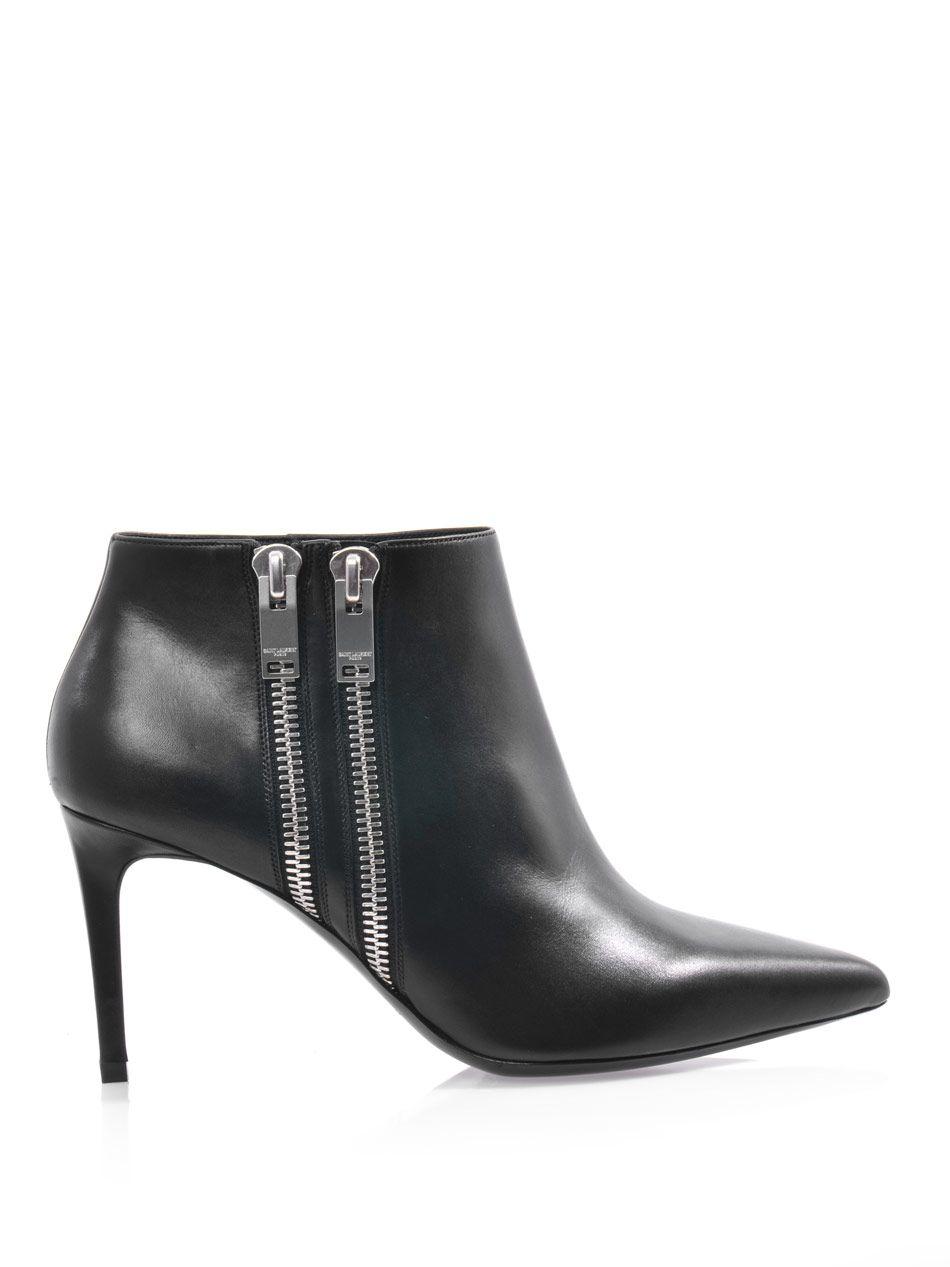 Paris point-toe ankle boots by: SAINT LAURENT