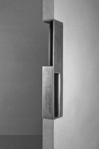 No Peek Sliding Door Pull - a rather eye-watering $425.00   Olson Kundig Architects Signature Line at 12th Avenue Iron