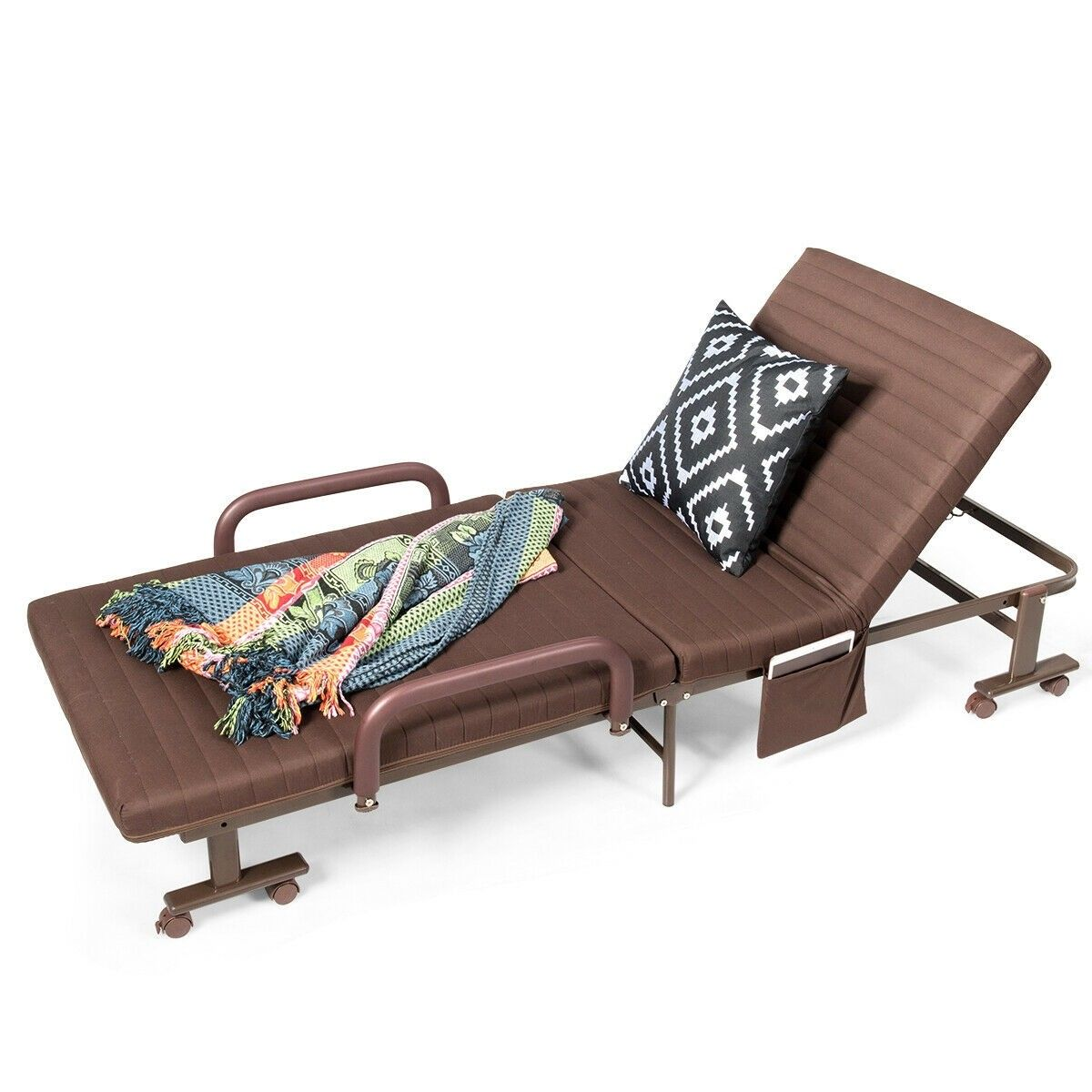 Adjustable Guest Single Bed Lounge Portable Wheels 149 95 Free Shipping This Versatile Folding Bed Is Suitable Patio Chaise Lounge Foldable Bed Patio Chaise