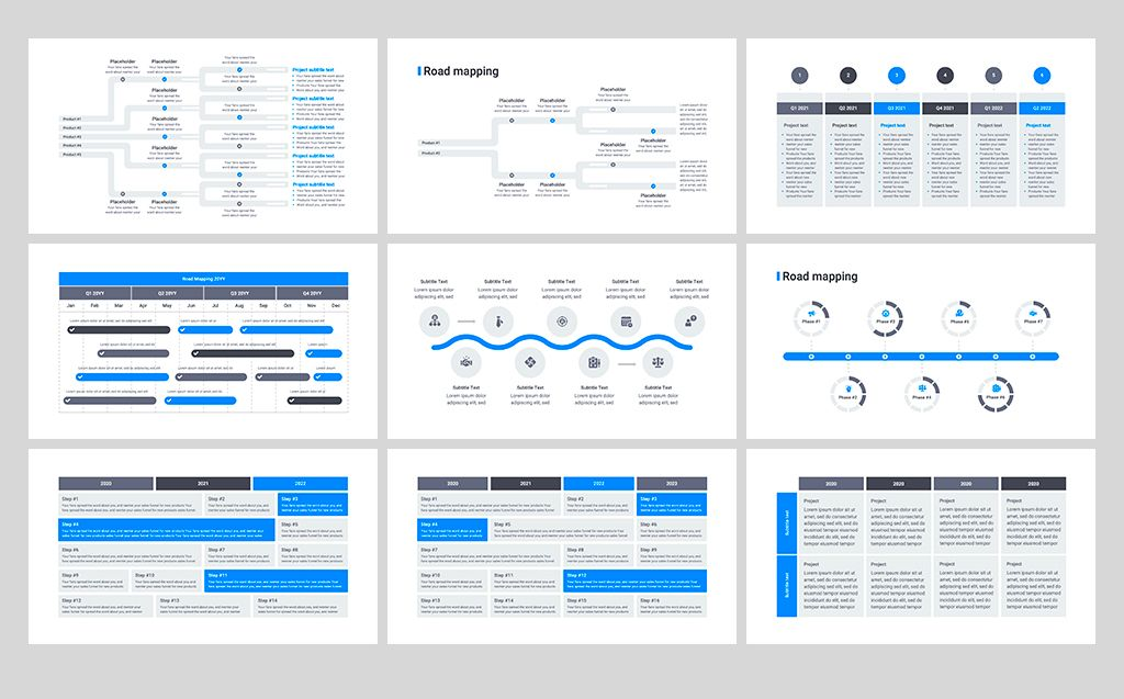 Product Roadmap Powerpoint Template 82430 Powerpoint Design