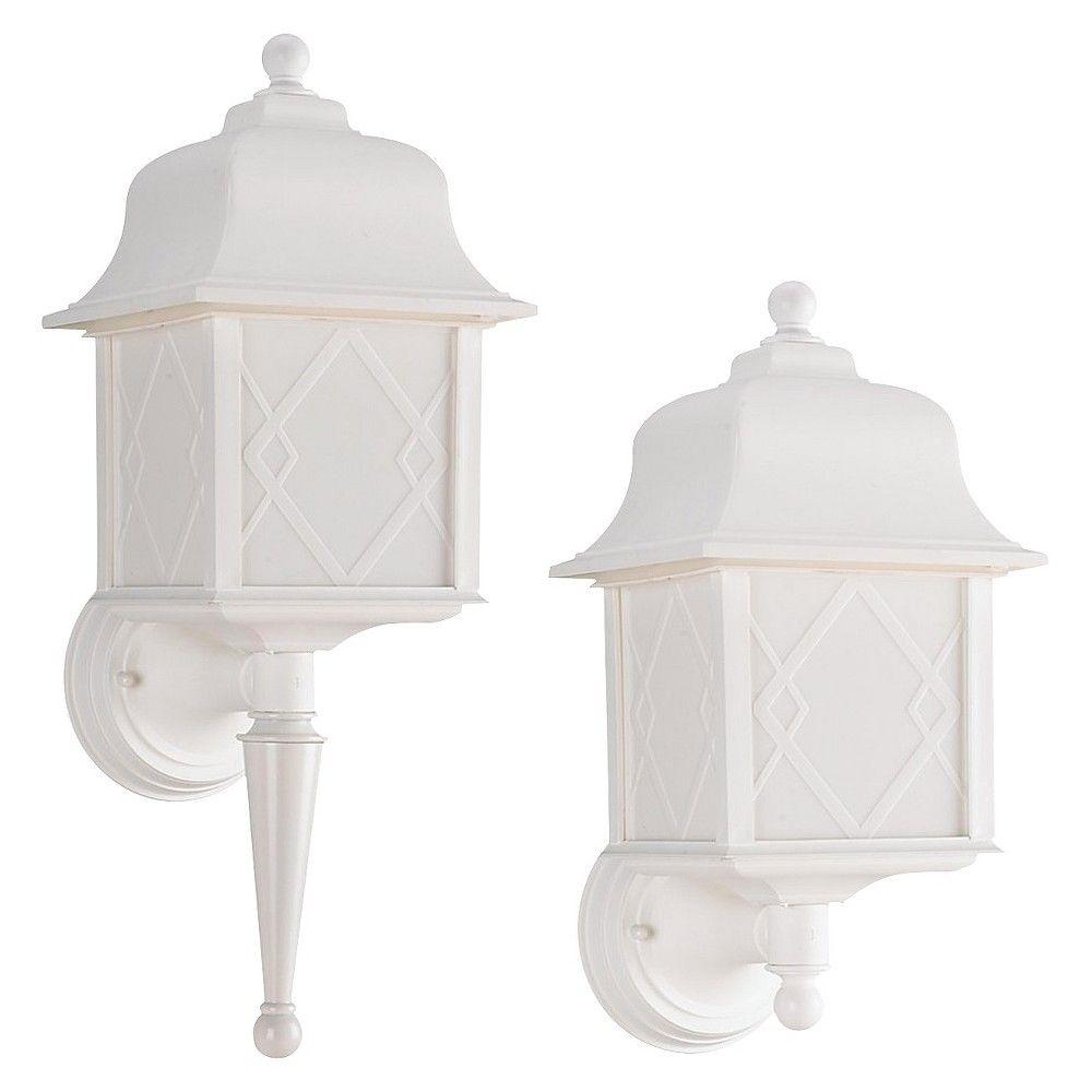 Sea Gull 1 Light Outdoor Wall Lantern - White,