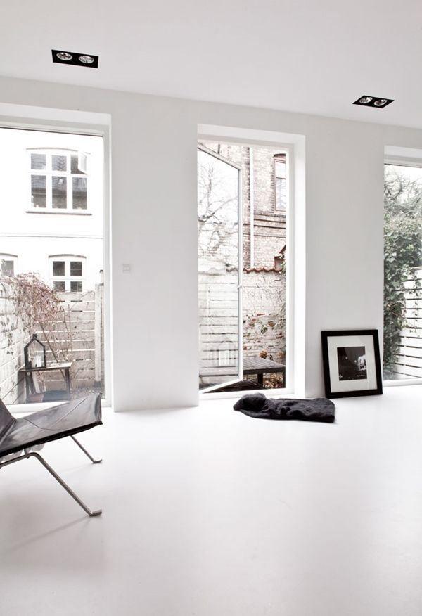 Idee Deco Du Jour Peindre Le Sol En Blanc Idee Deco Plancher Blanc Decoration Maison