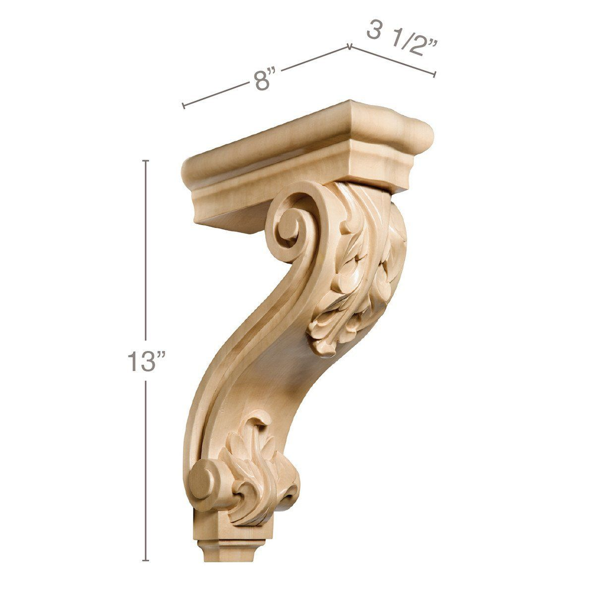 Acanthus Bracket Corbel 3 1 2 W X 13 H X 8 D Corbels Rustic Home Decor Quirky Earrings