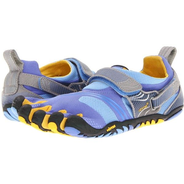 brand new 826d4 36802 Vibram FiveFingers Komodo Sport (Blue Yellow Grey) Women s Running Shoes  featuring polyvore, women s fashion, shoes, athletic shoes, multi, wrap  shoes, grey ...