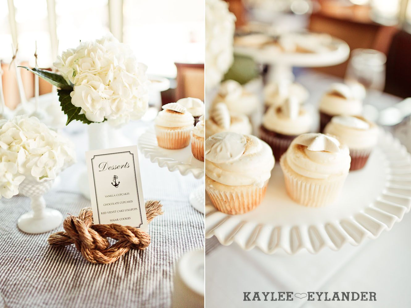 Nautical desserts and table numbers | Seattle Royal Argosy Cruise ...