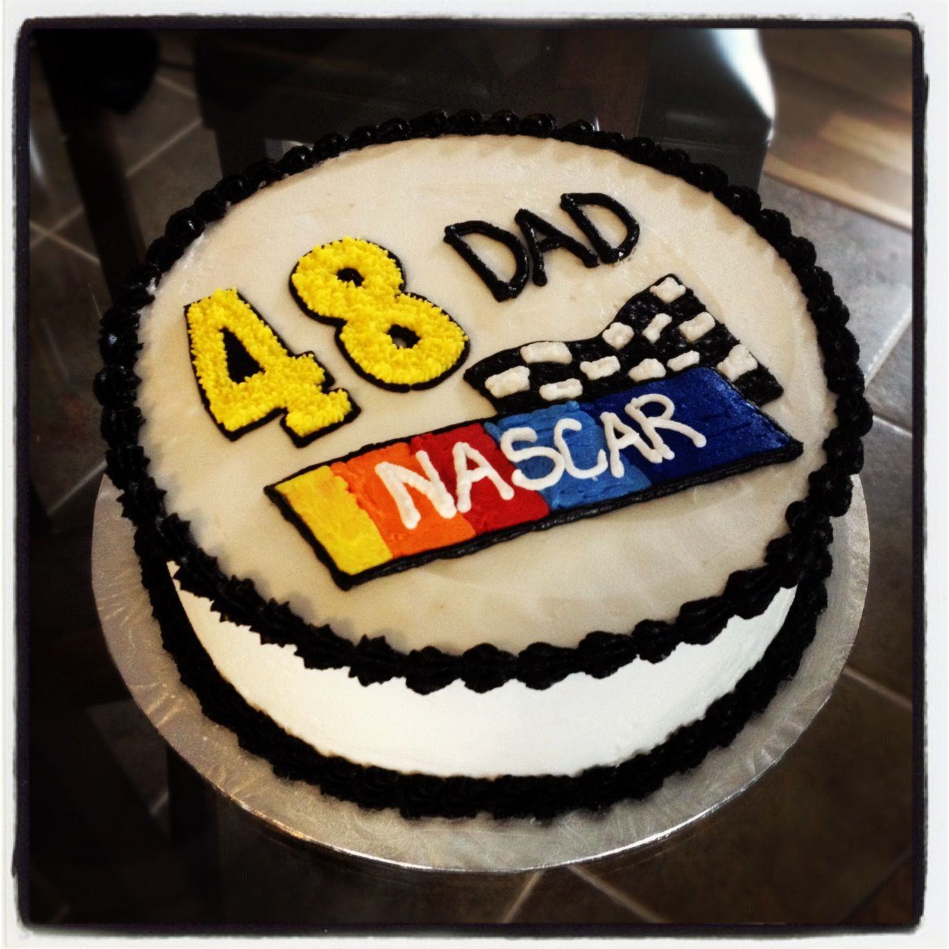 Nascar Cake Jimmie Johnson Frosted