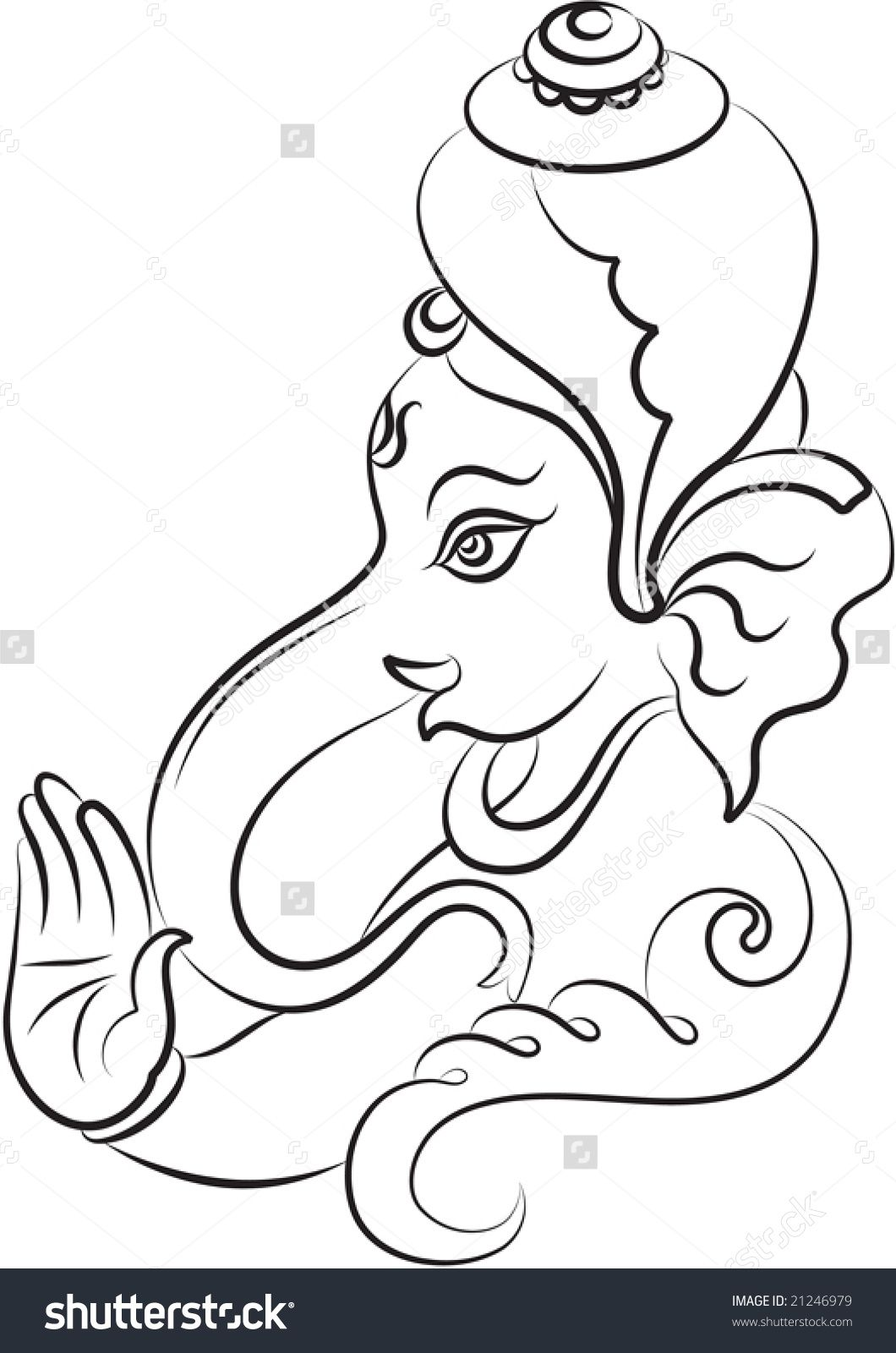Simple ganesh line drawings google search ganesha drawing god pictures diy art