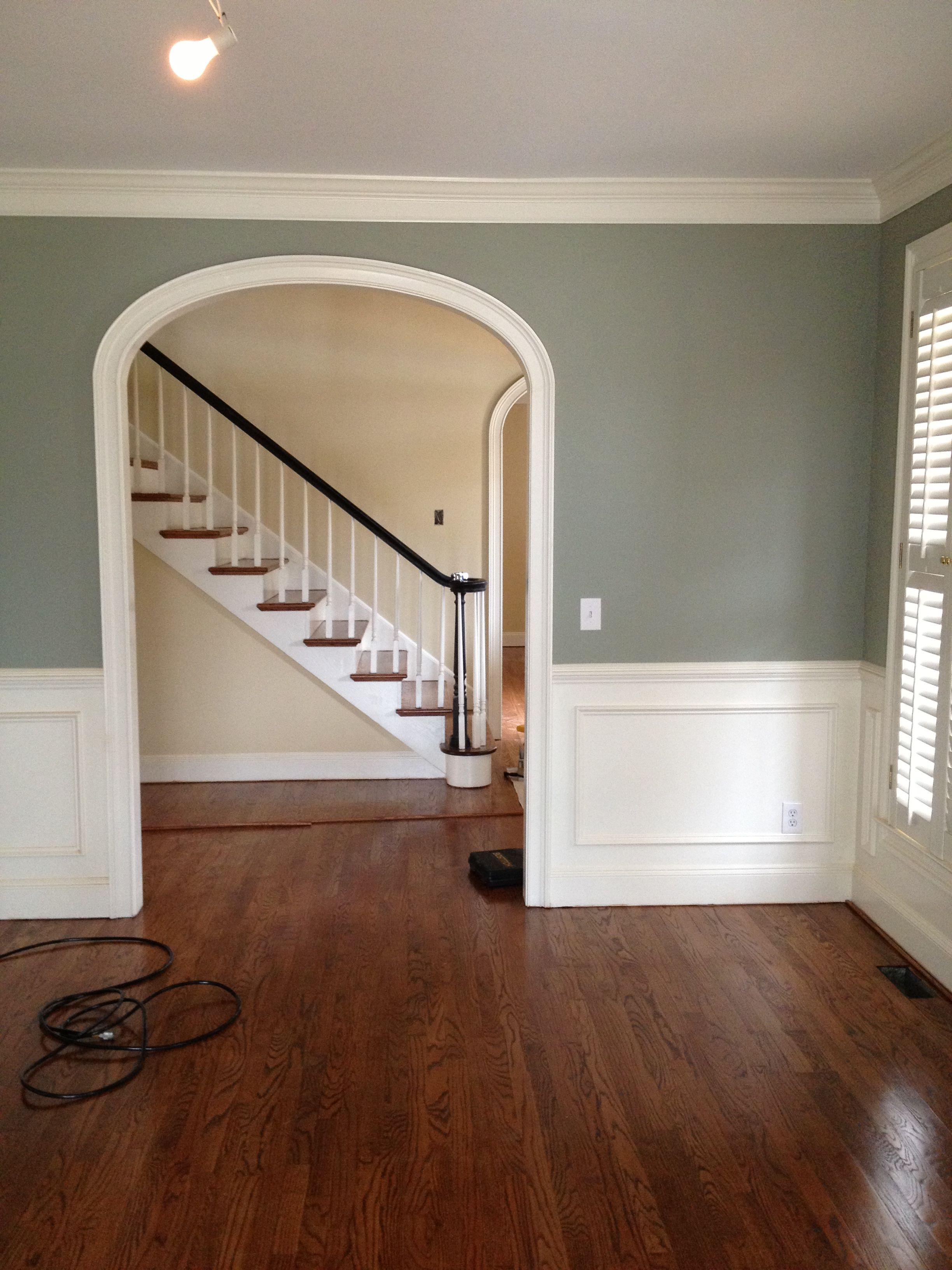 Wall Paint Interior Home Wall Painting Colours: SW Escape Gray - Dining Room?