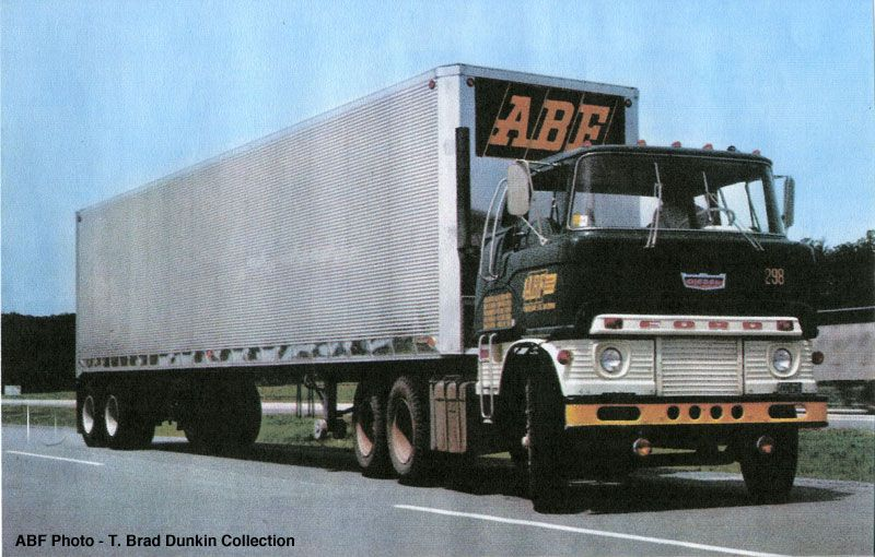 1964 Ford H Series powered by a 1673 Cat diesel, owned by ABF Freight System, Ford Smith, Arkansas. ABF Photo.