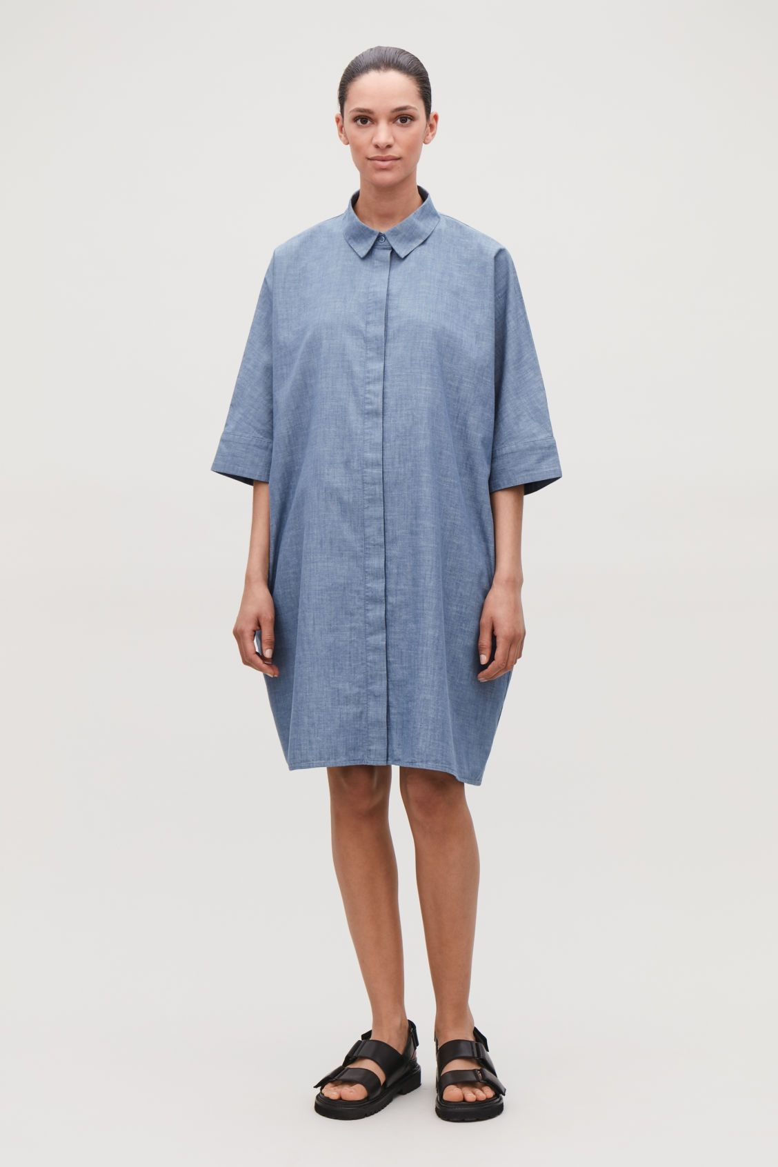 fe320a6ac385 BOXY DENIM SHIRT DRESS - Chambray blue - Dresses - COS | Apparel in ...