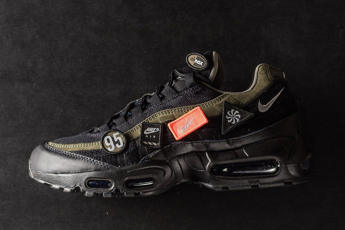Highs & Lows x Nike Air Max 95 in Black/Military Green - Sneaker Magazine