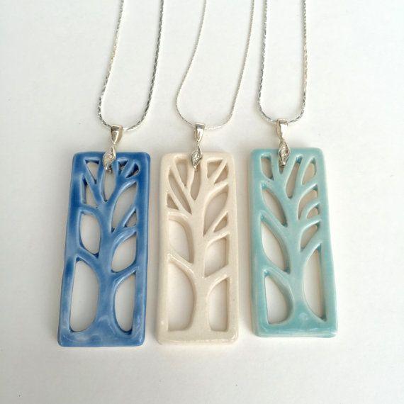 Woodland Necklace by QuigleyCeramics on Etsy