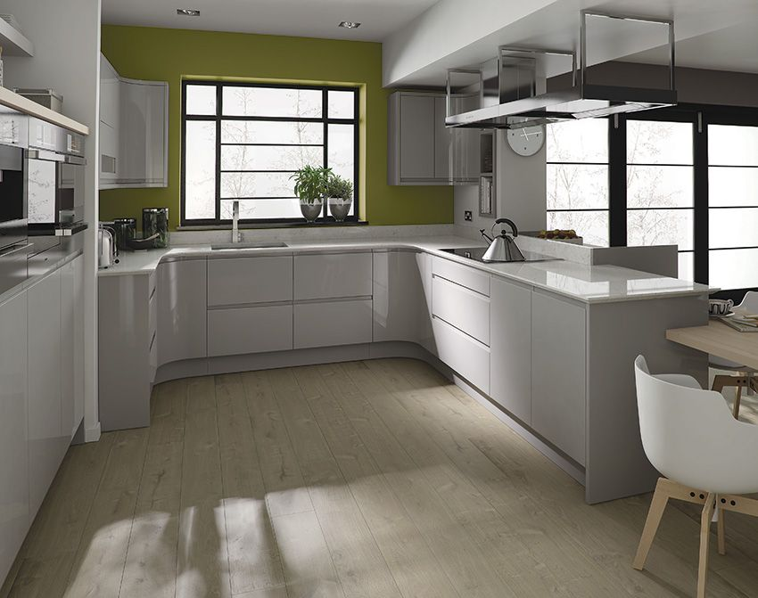 Best Kitchens White Grey High Gloss Google Search Extension 400 x 300