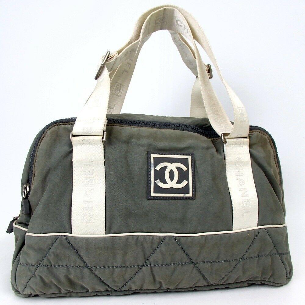 8235fb6e0cbb #FORSALE Authentic CHANEL Sports line CC mark Boston bag Nylon[Used] - $11