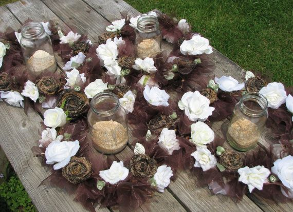 Camo Wedding Lighted Centerpiece Set of 4 Rustic Camouflage and
