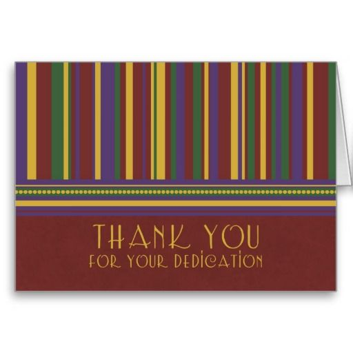 Stripes Employee Appreciation Thank You Card Employee appreciation - thank you note to employee