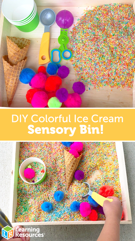 Colorful Ice Cream Sensory Bin images