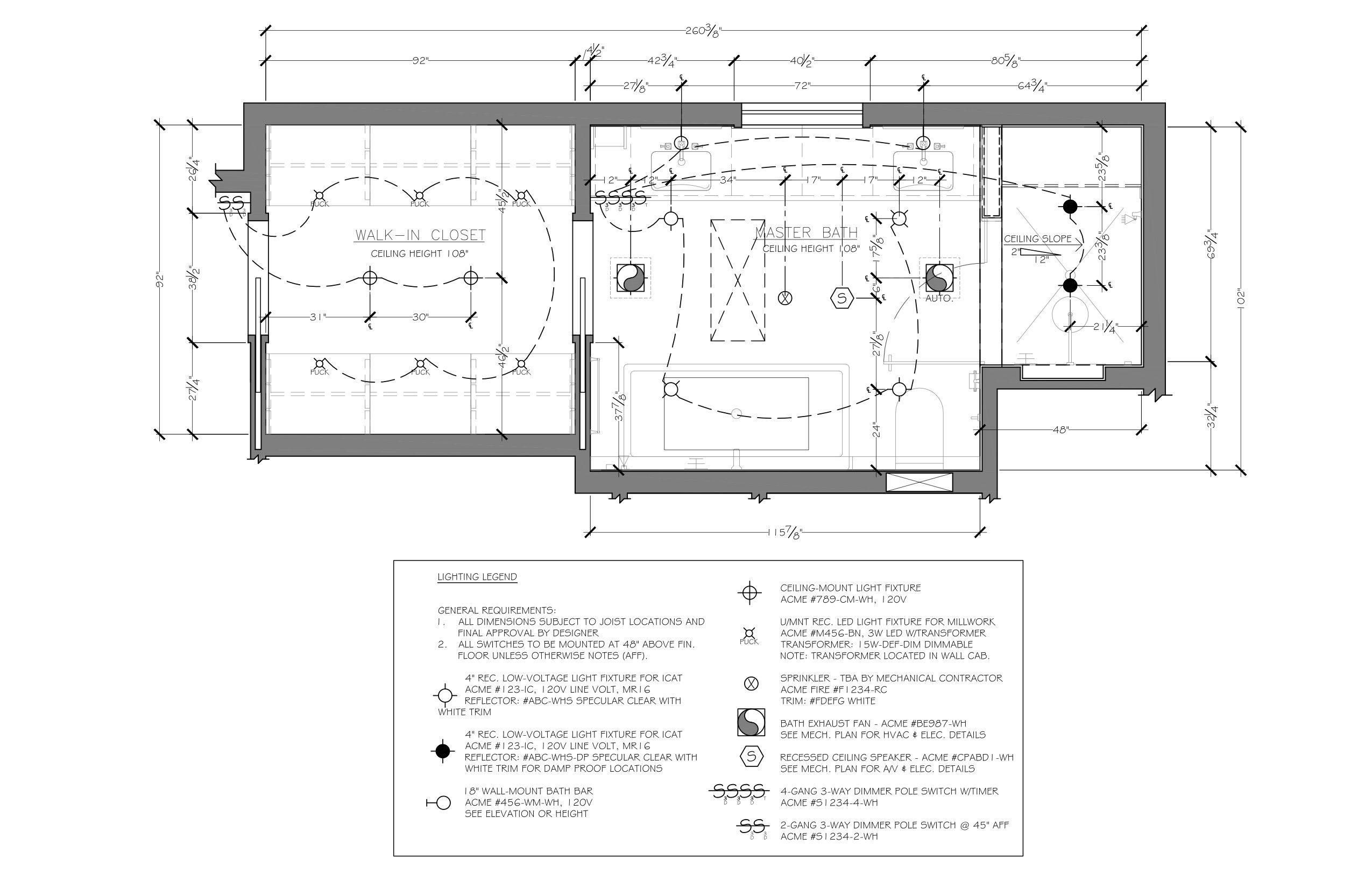 bathroom reflected ceiling plan example c 2013 corey klassen ckd used under permission from the national kitchen bath association [ 2550 x 1650 Pixel ]