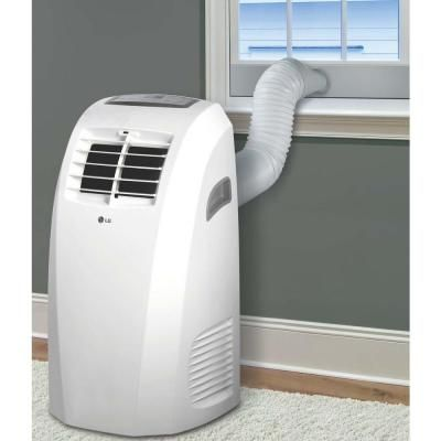 Lg Electronics 10 000 Btu Portable Air Conditioner And Dehumidifier Function Portable Air Conditioner Air Conditioner Conditioner