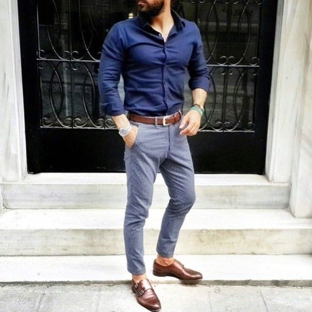 Blue dress casual vs casual for men