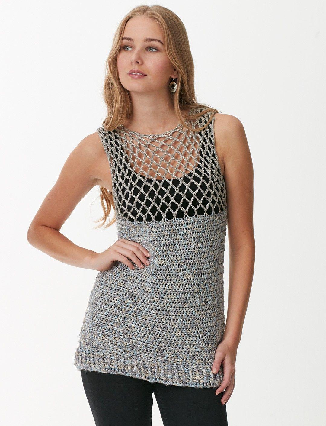 Mesh top (pattern) on Yarnspirations.com | crocheting and knitting ...